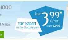 Handy Flatrates ab 1GB Volumen für 3.99 Euro